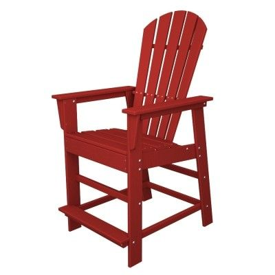 POLYWOOD® South Beach Counter Chair #chair #armchair #outdoor #furniture #beach #beachchair http://www.acepatiofurniture.com/poly-wood-recycled-plastic-south-beach-counter-chair.html
