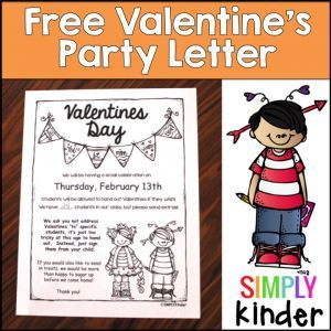 Editable Party letter from #SimplyKinder for Valentine's Day!