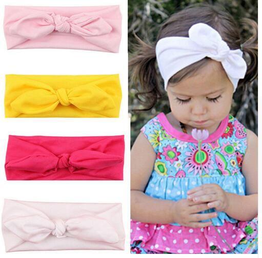 Bahan Katun warna Solid knotting Headband Rambut Aksesoris Cocok untuk 0-7 tahun anak pita Rambut KT002