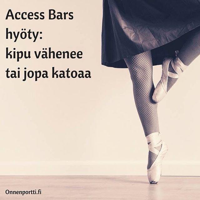 Access Bars #hyöty: #kipu vähenee tai jopa katoaa #Accessbars #accessconsciousness #onnenportti