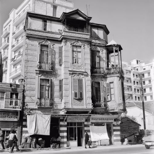 Οδός Εγνατίας στο ύψος της Αγαπηνού στις αρχές της δεκαετίας του 1960.  Φωτογραφία: Δημήτρης Παπαδήμος