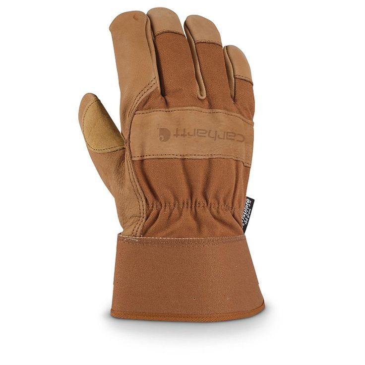 Winter work gloves. Carhartt® 100 gram Thinsulate™ Insulation Insulated Grain Leather Work Gloves, Brown