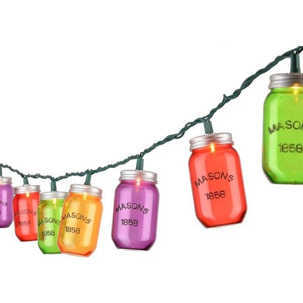 Light up your outdoor space with these Multicolor Mason Jar String Lights. They'll provide the perfect colorful country flair for any evening party! String of …