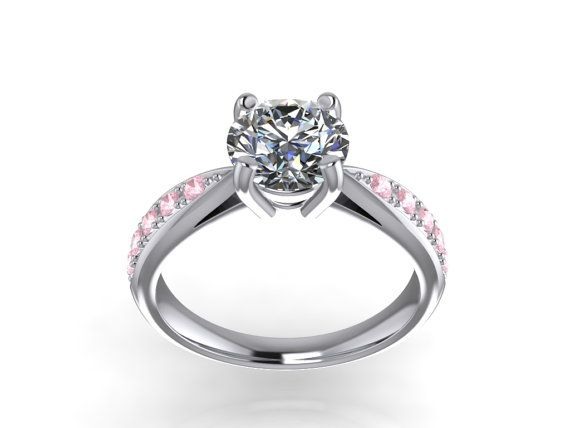 Solitaire With SideS  Diamonds3D CAD STL File by PiettroJewelry, $18.00