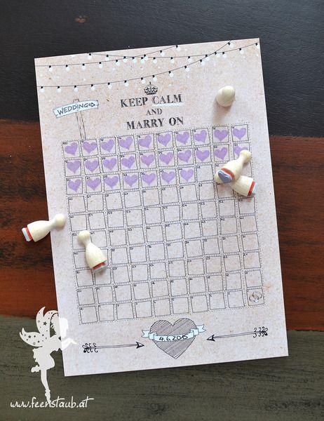 """Hochzeits Countdown """"Noch 100 Tage!"""" von Feenstaub auf DaWanda.com"""