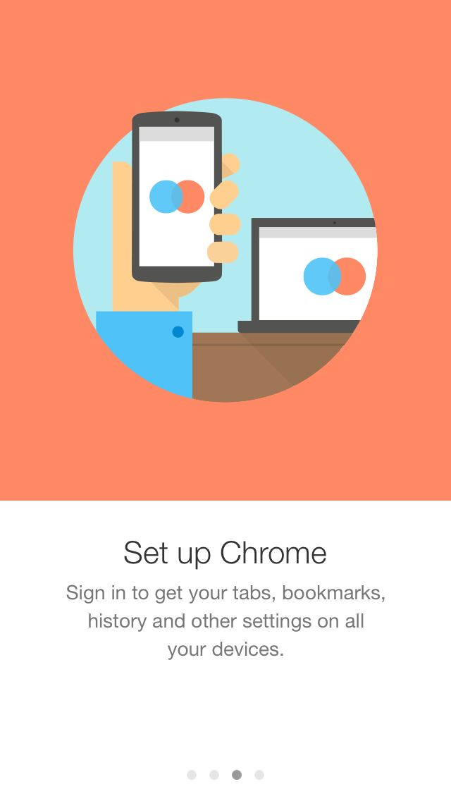 Gmail iOS App intro screens
