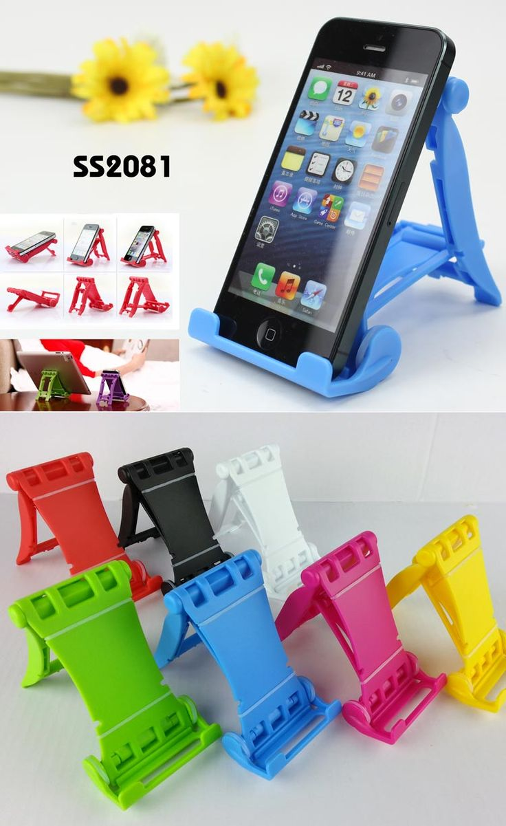 Foldable Design Cell Phone and Tablet Holder  * Material: PP * Color: Any colors available * Size: 6.9*10.7*2.5CM * Universal holder for cell phone and tablet * Concise Design, Durable, Prevailing, Top Grade www.ideagroupigm.com