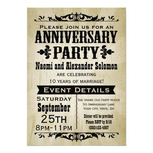 best 25+ anniversary party invitations ideas on pinterest, Party invitations