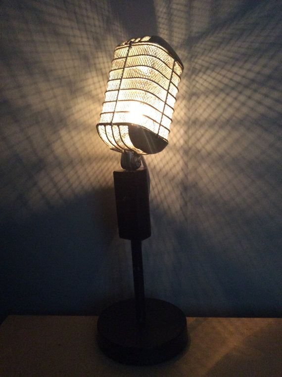 vintage Microphone lamp by Vongooz on Etsy
