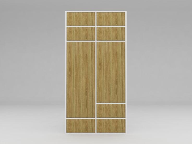 Minimalist modern furniture - Lemari Pakaian Minimalis - White Elegant Teak