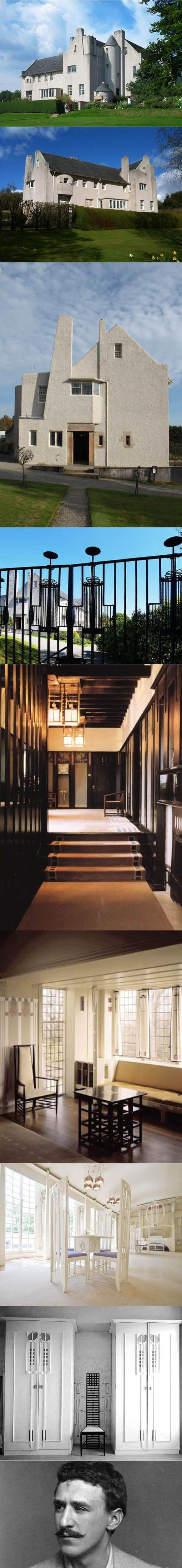 1902-1904 Charles Rennie Mackintosh - Hill house / Helensburgh Scotland UK / concrete / white / art nouveau