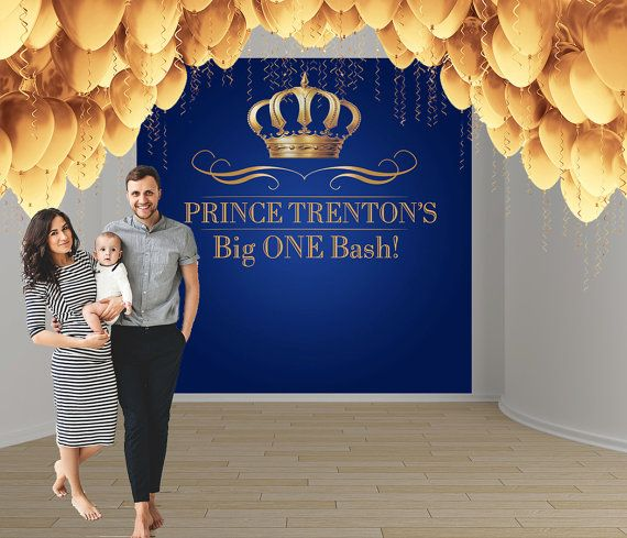 Royal Prince Birthday Party Personalize Photo by BannersUSA