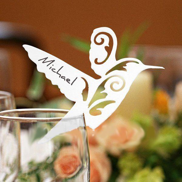 Peach Flower  - White Laser-cut Flying Bird Place Cards (Set of 12), $9.95 (http://www.peachflower.com.au/white-laser-cut-flying-bird-place-cards-set-of-12/)