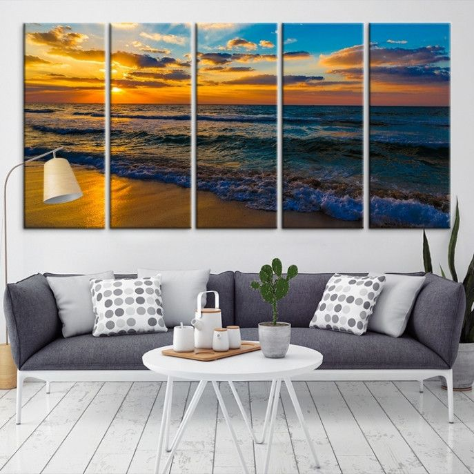28252 - Sea and Beach Wall Art Large Canvas Print