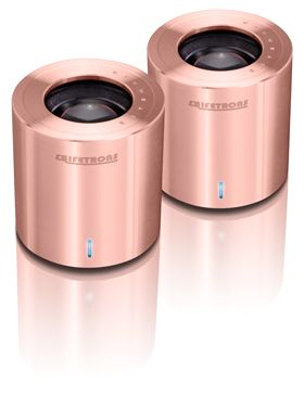 DrumBass IIIe Metallic Speaker, Limited Edition Rose Gold Plated by Lifetrons