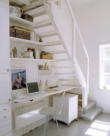 16 Interior Design Ideas and Creative Ways to Maximize Small Spaces Under  Staircases. Loft StairsDesk ...
