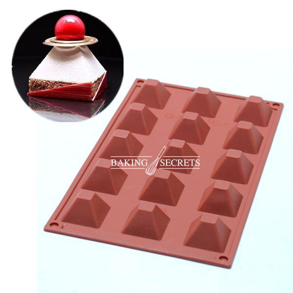Для выпечки с антипригарным Французский десерт пирамиды; форма мусс силиконовые кондитерские торт формы формы для выпечки желе плесень купить на AliExpress