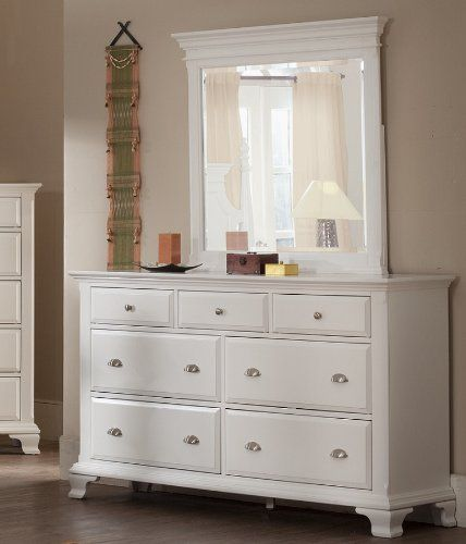 Roundhill Furniture Laveno 012 White Wood 7 Drawer Dresser And Mirror Roundhill Furniture Http