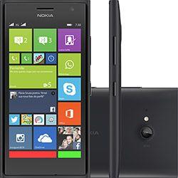 Smartphone Nokia Lumia 730 Dual Chip Desbloqueado Windows 8.1 Tela 4.7 Memória Interna 8GB Wi-Fi Câmera 6.7MP GPS - Preto