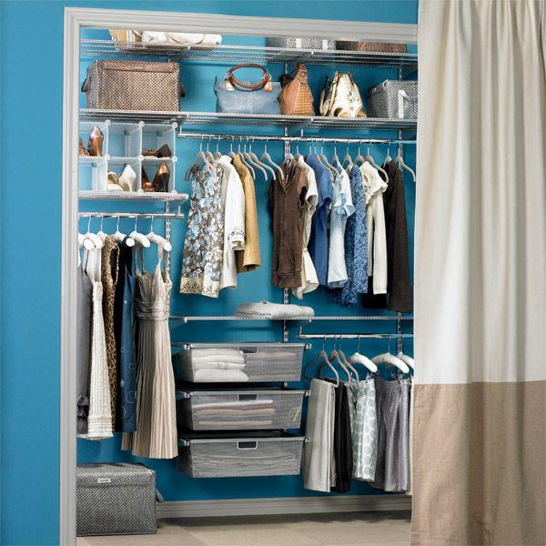 Elfa Closet System Platinum Reach In The Container Store