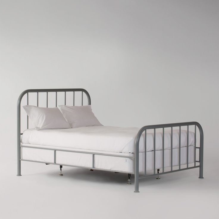 hamilton bed machine gray steel bed framemetal - Wire Bed Frame