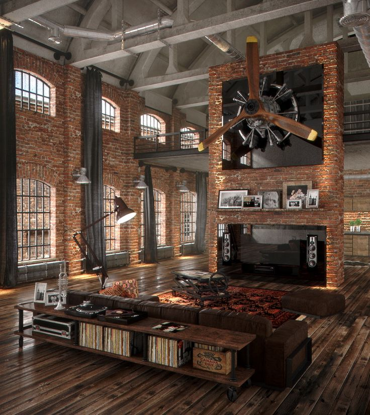 If brick designs had a haven, this loft apartment would be just about what it looks like.
