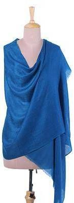 Changthang Royalty Handwoven Cashmere Wool Shawl in Royal Blue from India. Shawl fashions. I'm an affiliate marketer. When you click on a link or buy from the retailer, I earn a commission.