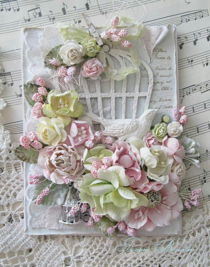Днем рождения, как наклеить цветы на открытку скрапбукинг