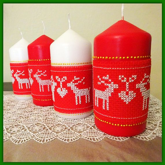 Red candles christmas candle decorative candle christmas