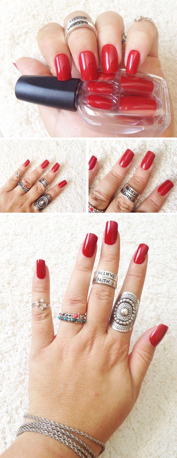 Impress press on manicure nails my style pinterest - Unhas Autocolantes Impress