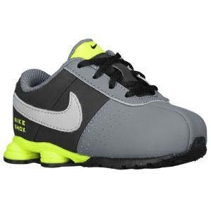Nike Shox Deliver - Boys' Toddler - Dark Grey/Wolf Grey/Black/Volt