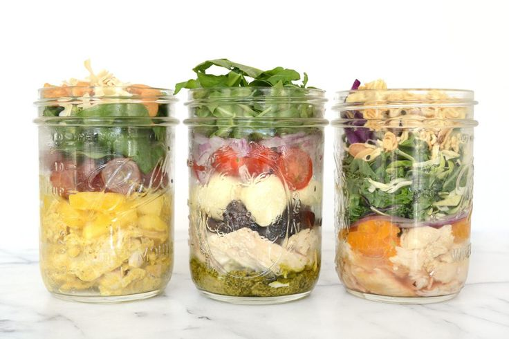 These yummy salads in a jar are jam packed with flavor and nutrition. 3 variations can all be made Sunday night ready for a whole week of lunches.