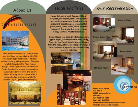 25 best images about Brochure Inspiration – Sample Hotel Brochure