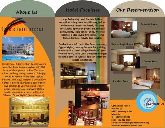 25 best images about Brochure Inspiration – Sample Hotel Brochure