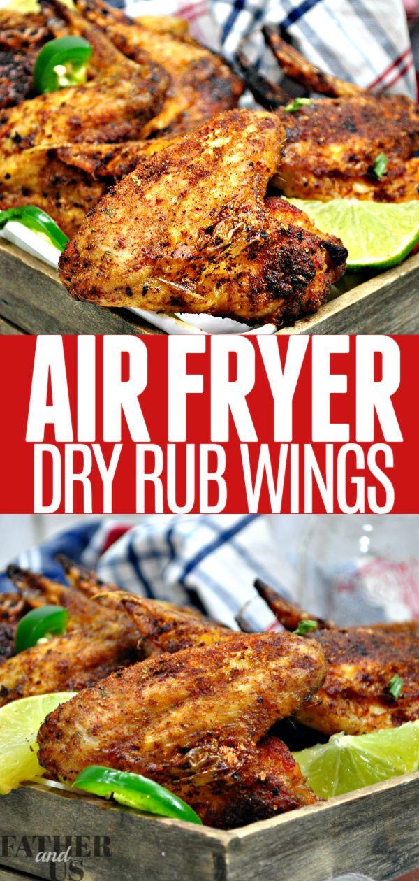 Air Fryer Dry Rub Wings In 2020 Dry Rub Wings Air Fryer Recipes