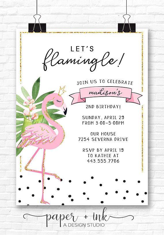 flamingo birthday invitations flamingo