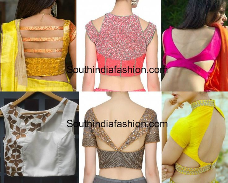 Cut Out saree blouse designs, Latest Blouse back neck designs, Blouse neck models for sarees and lehengas
