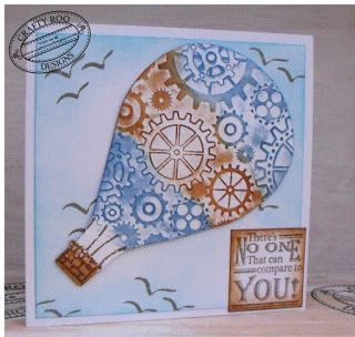 A card made using May's Monthly make from Crafty Roo Designs.
