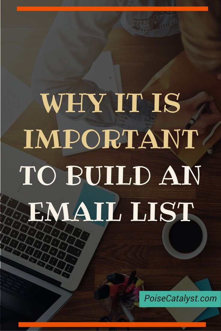 Sooo, why is it important to build an email list? Click through for the video!