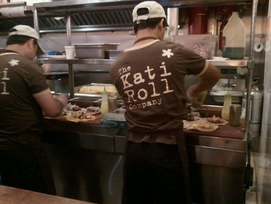 Kati Roll Company - great for post work drinks snack, buzzing with local Indians which is a great sign...should come with a smell warning http://www.thekatirollcompany.com/