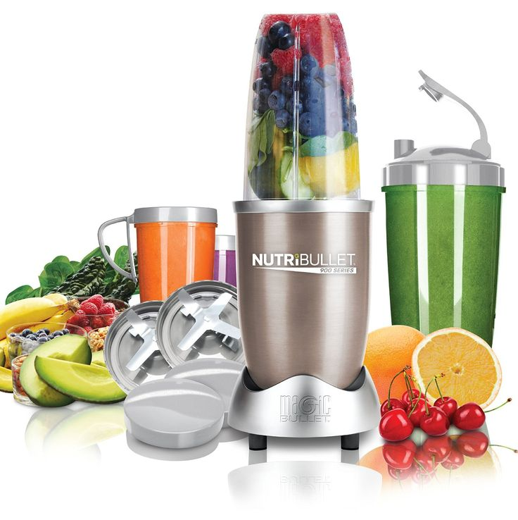 NUTRiBULLET Pro 900 Series Extractor 15 Piece Set, 900 W - Champagne: Amazon.co.uk: Kitchen & Home