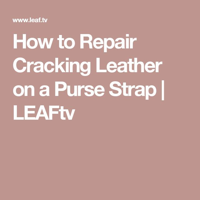 how to fix peeling purse strap
