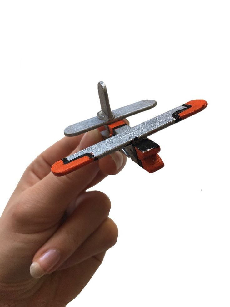 Clothespin Airplane