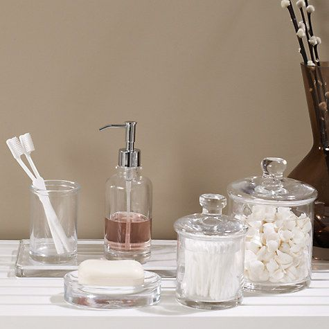 Buy John Lewis Croft Collection Glass Lotion/Soap Dispenser, Clear Online at johnlewis.com