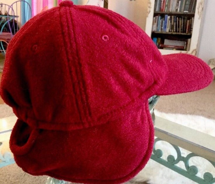 Adult Cap Red Fleece Ear Flaps Hunting Hat One Size By Due North  | eBay