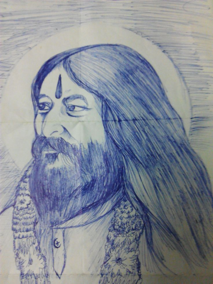 "Simple sketching of ""Shri Ashutosh Maharaj Ji"" Made on 6th Oct 2014."