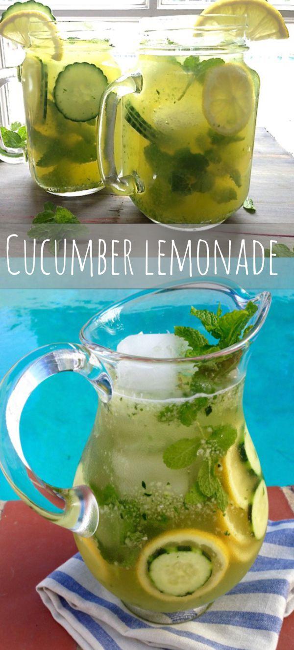 Cucumber Lemonade #Cucumber #Lemonade #Drinks #Healthy