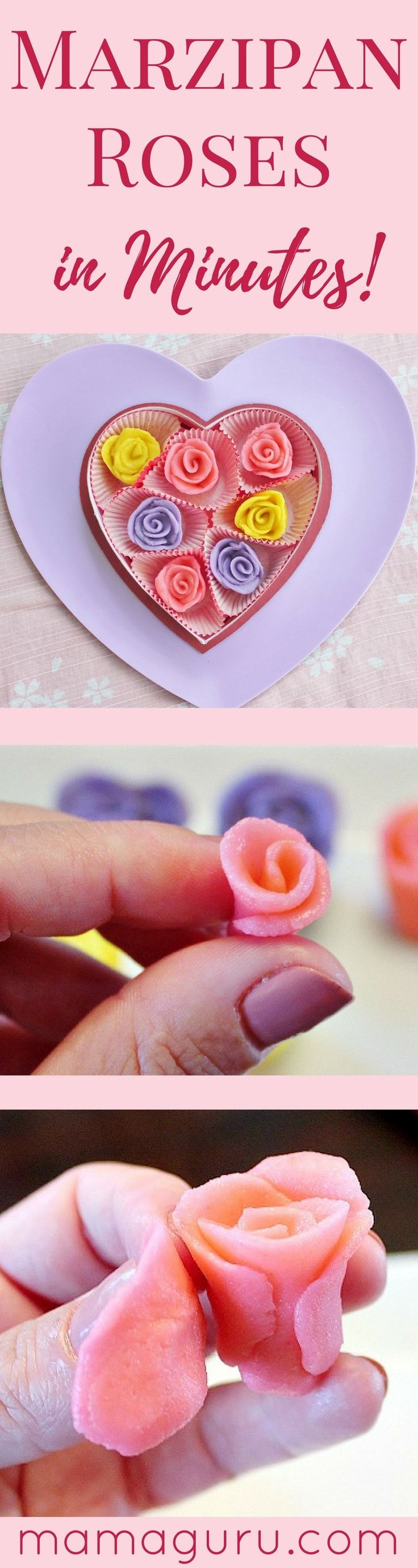 Marzipan Roses ♥ Cake Decorating ♥ Valentine's Day ♥ Marzipan Recipe ♥ Homemade Gift