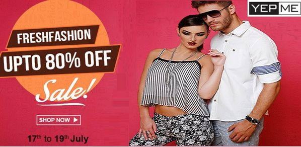 YepMe Fashion Sale Offer Uptp 80% OFF & Get Extra 10% OFF on #Yepme App Use Coupon Code APP10 & ✓ Cash on Delivery ✓ Free Shipping ✓ 30 Days Return