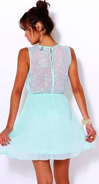 Mint Green Flirty Dress